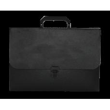 Портфель A4 пласт на замке JOBMAX черный