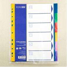 Индекс-разделитель А4 Economix пластик 6 позиций цветной