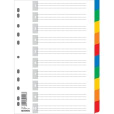 Индекс-разделитель цифровой А4 10 позиций цветной с листом описи