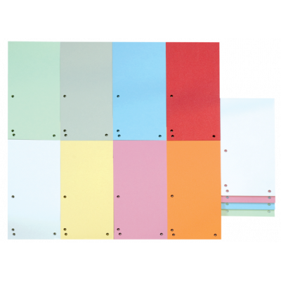 Индекс-разделитель 10,5х23см (100шт.) картон ассорти (8620100-99)