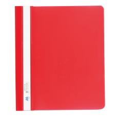 Скоросшиватель пластиковый А5 PP красный