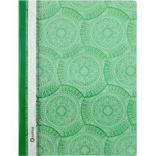 Скоросшиватель пластиковый А4 Калейдоскоп фактура глянец зеленый