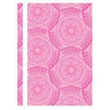 Скоросшиватель пластиковый А4 Калейдоскоп фактура глянец розовый