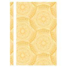 Скоросшиватель пластиковый А4 Калейдоскоп фактура глянец желтый