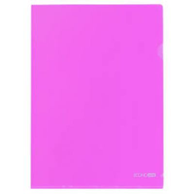 Папка-уголок А4 фактура глянец розовый (E31153-09)