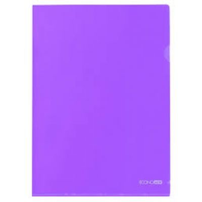 Папка-уголок А4 фактура глянец фиолетовый (E31153-12)