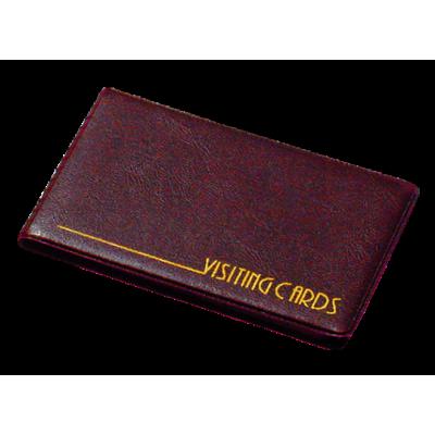 Визитница на 24 визиток винил бордовый (0304-0002-10)