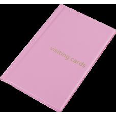 Визитница на 60 визиток PVC розовый
