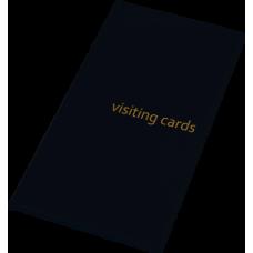 Визитница на 96 визиток PVC черный