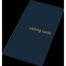 Визитница на 96 визиток PVC темно-синий