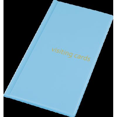 Визитница на 96 визиток PVC голубой (0304-0005-27)