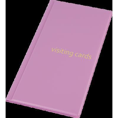 Визитница на 96 визиток PVC розовый (0304-0005-30)