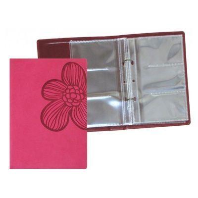 Визитница на 90 визиток VIVELLA Цветок красный (O36024-03)