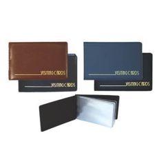 Визитница на 24 визиток PVC темно-синий