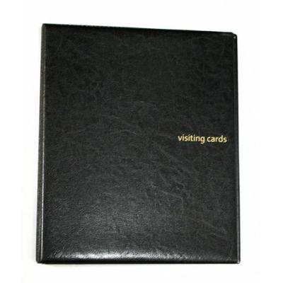 Визитница на 400 визиток на кольцах винил черный (0304-0009-01)