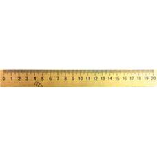 Линейка деревянная 20см шелкография
