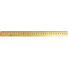Линейка деревянная 30см шелкография