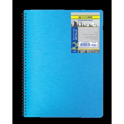 Блокнот на пружине Metallic пластиковая обложка B5 (BM.2419-902)