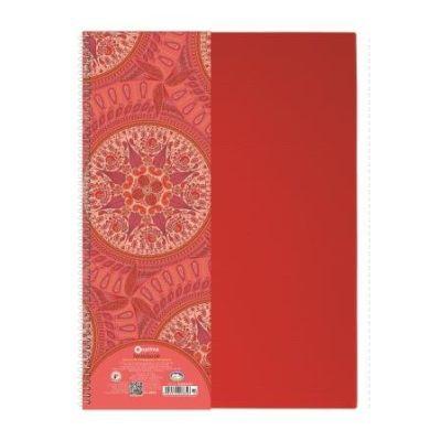 Блокнот на пружине А4 Kaleidoscope пружина боковая 80л. красный (O20365-03)