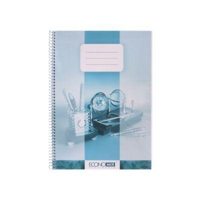 Блокнот на пружине А4 пластикова обложка 80л ассорти (E20223)