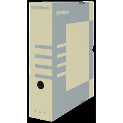 Бокс для архивации документов, 80 мм, DONAU, крафт (7660301PL-02)