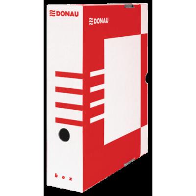 Бокс для архивации документов, 80 мм, DONAU, красный (7660301PL-04)