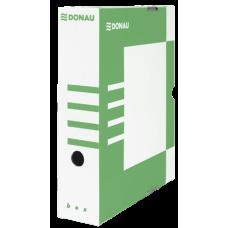 Бокс для архивации документов, 80 мм, DONAU, зеленый