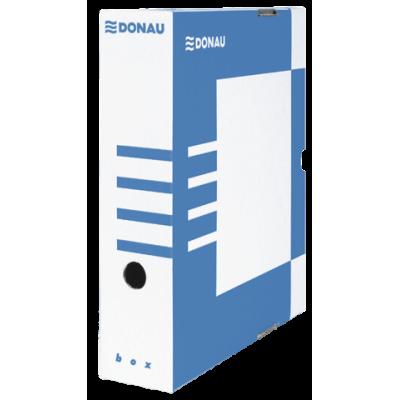 Бокс для архивации документов, 80 мм, DONAU, синий (7660301PL-10)