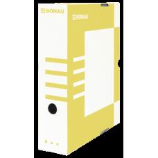 Бокс для архивации документов, 80 мм, DONAU, желтый