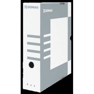 Бокс для архивации документов, 80 мм, DONAU, серый (7660301PL-13)