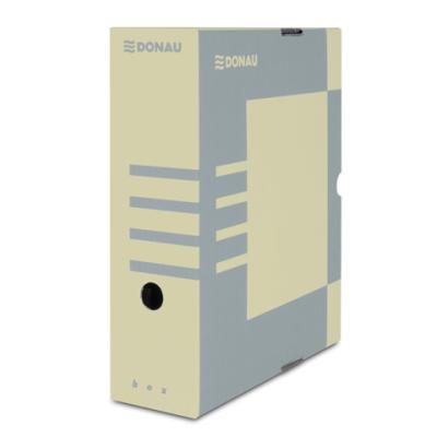 Бокс для архивации документов,100 мм, DONAU, крафт (7661301PL-02)