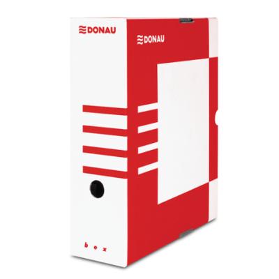 Бокс для архивации документов,100 мм, DONAU, красный (7661301PL-04)