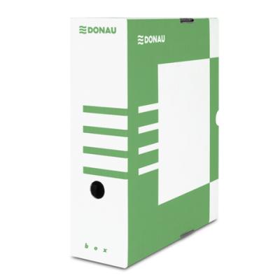 Бокс для архивации документов,100 мм, DONAU, зеленый (7661301PL-06)