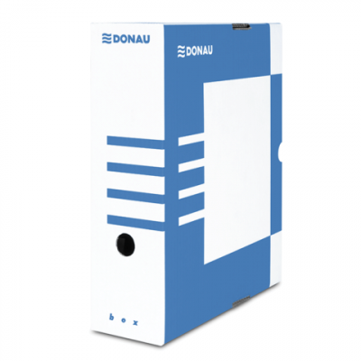 Бокс для архивации документов,100 мм, DONAU, синий (7661301PL-10)