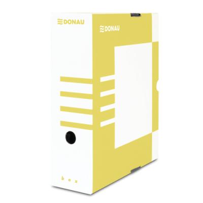 Бокс для архивации документов,100 мм, DONAU, желтый (7661301PL-11)