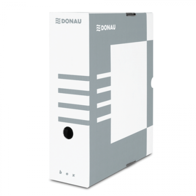 Бокс для архивации документов,100 мм, DONAU, серый (7661301PL-13)