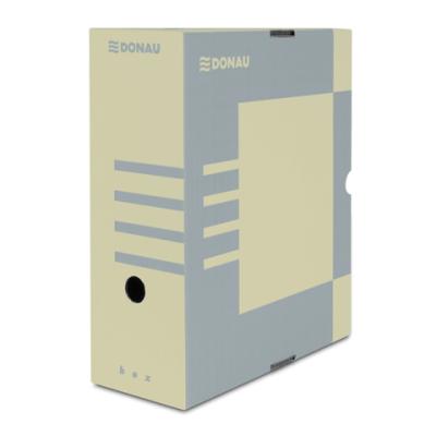 Бокс для архивации документов,120 мм, DONAU, коричневый (7662301PL-02)