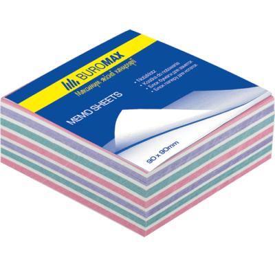 Блок бумаги для заметок Зебра 80х80х30мм не проклеенный (BM.2253)