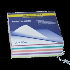 Блок бумаги для заметок Зебра 90х90х30мм не проклеенный