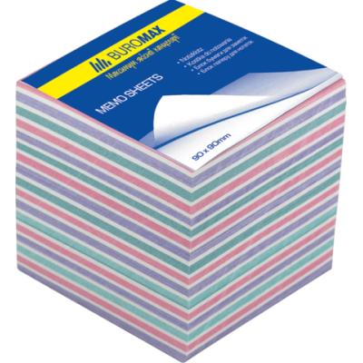 Блок бумаги для заметок Зебра 90х90х70мм не проклеенный (BM.2269)