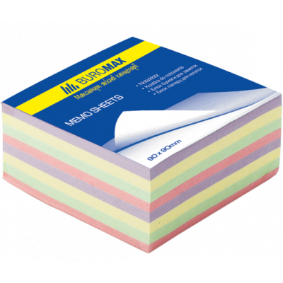 Блок бумаги для заметок Декор 90х90х40мм не проклеенный (BM.2285)