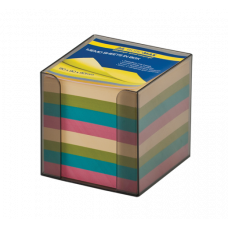 Бокс с цветной бумагой 90х90х90мм  дымчатый
