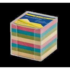 Бокс с цветной бумагой 90х90х90мм прозрачный