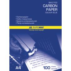 Бумага копировальная синяя, А4, 100 листов, Buromax
