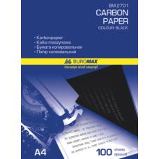 Бумага копировальная черная, А4, 100 листов, Buromax