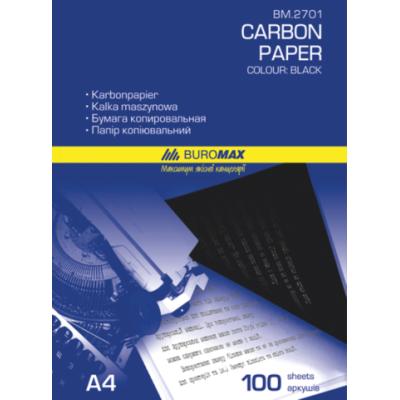 Бумага копировальная черная, А4, 100 листов, Buromax (BM.2701)