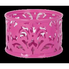 Подставка для скрепок Barocco 85х53мм металл розовый