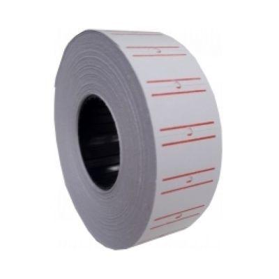 Этикетки ценники 21х12мм 1000 шт/рул. белый с красной полосой (E21301-15)