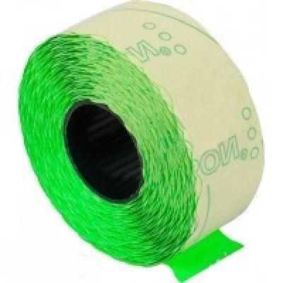 Этикетки ценники фигурные 22х12мм 1000 шт/рул. зеленый (E21303-04)