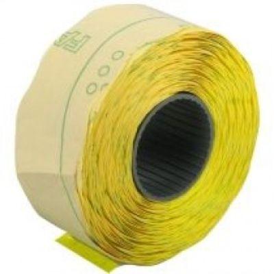 Этикетки ценники фигурные 22х12мм 1000 шт/рул. желтый (E21303-05)